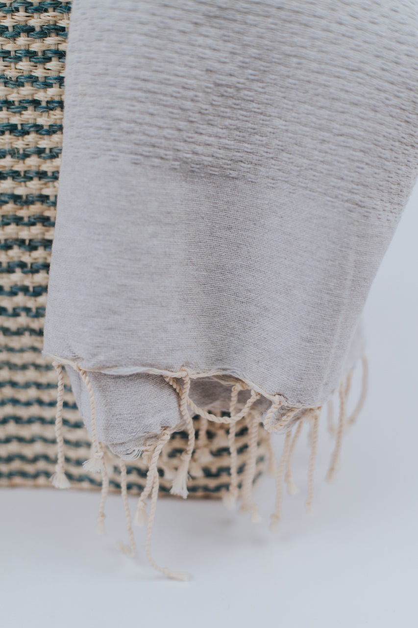Light Grey Turkish Towel | ROOLEE