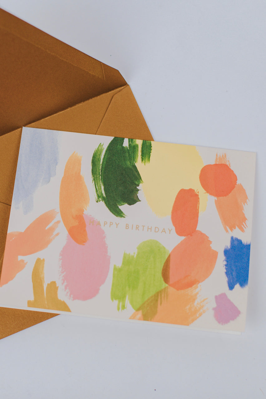 Cute Unique Painted Birthday Card | ROOLEE