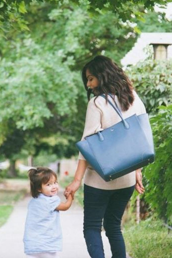 Brookside Tote in Blueberry