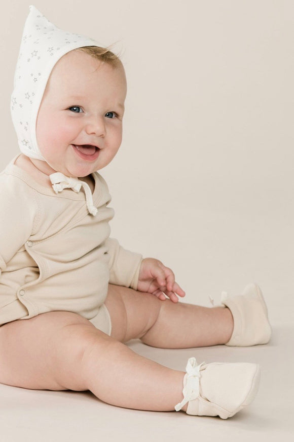 Neutral Colored Baby Booties | ROOLEE