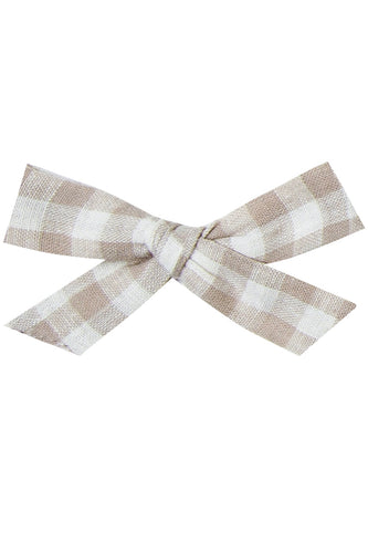 Gingham Bow Clip | ROOLEE