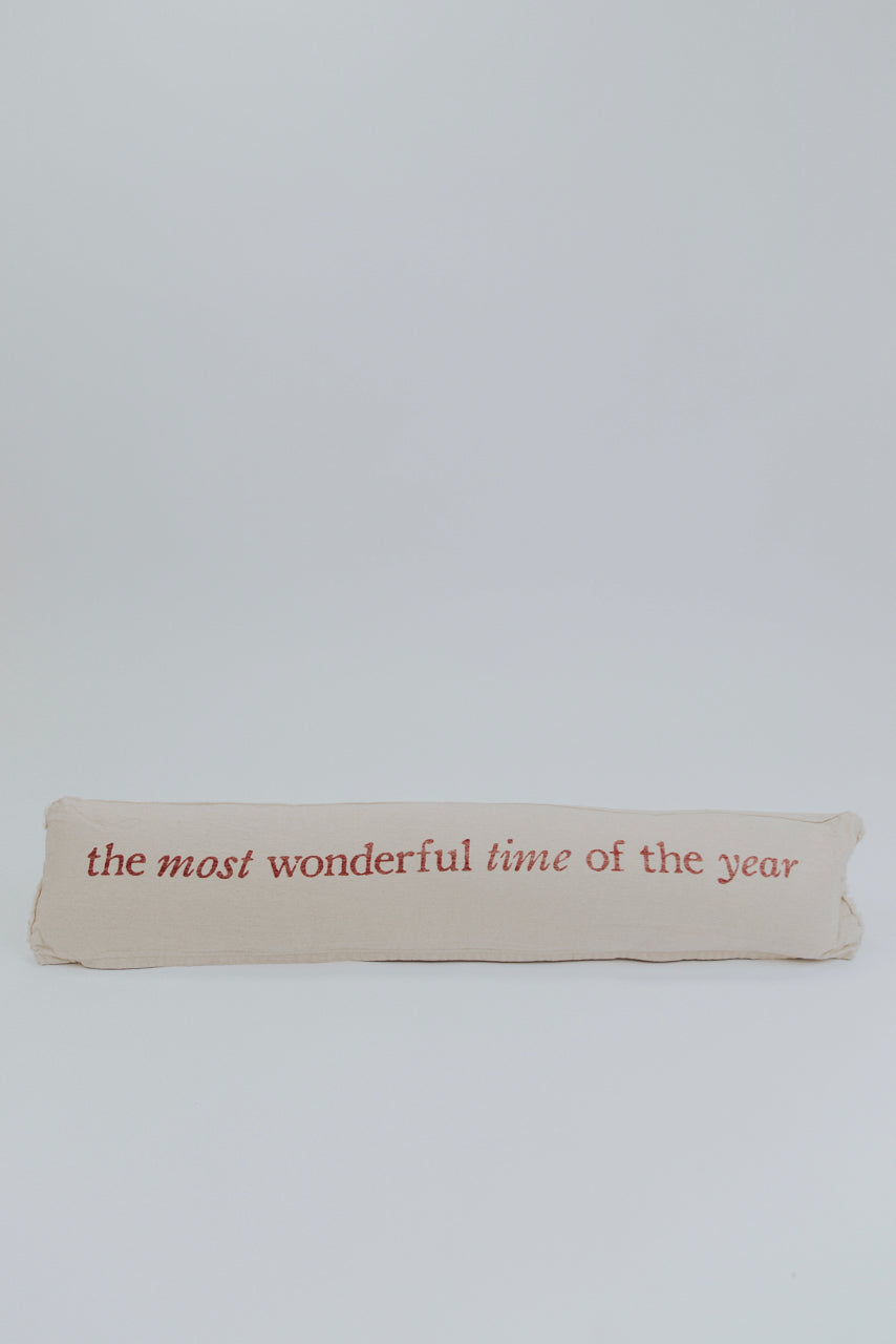 Most Wonderful Time Cotton Pillow