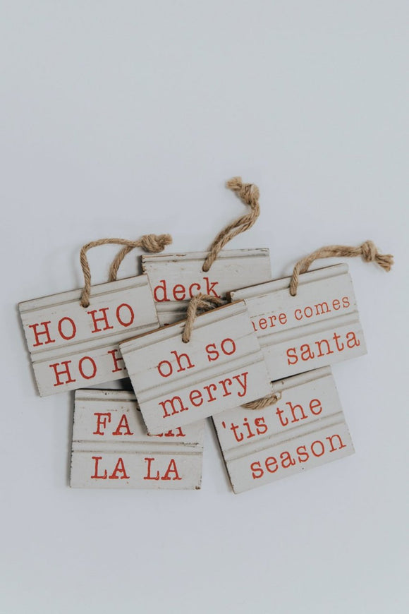Holiday Wooden Gift Tag