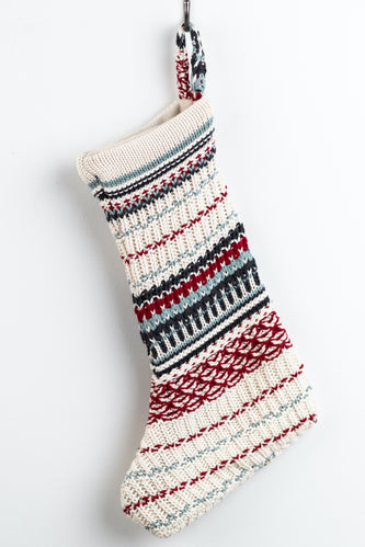 Christmas Cheer Striped Decorative Stocking | ROOLEE