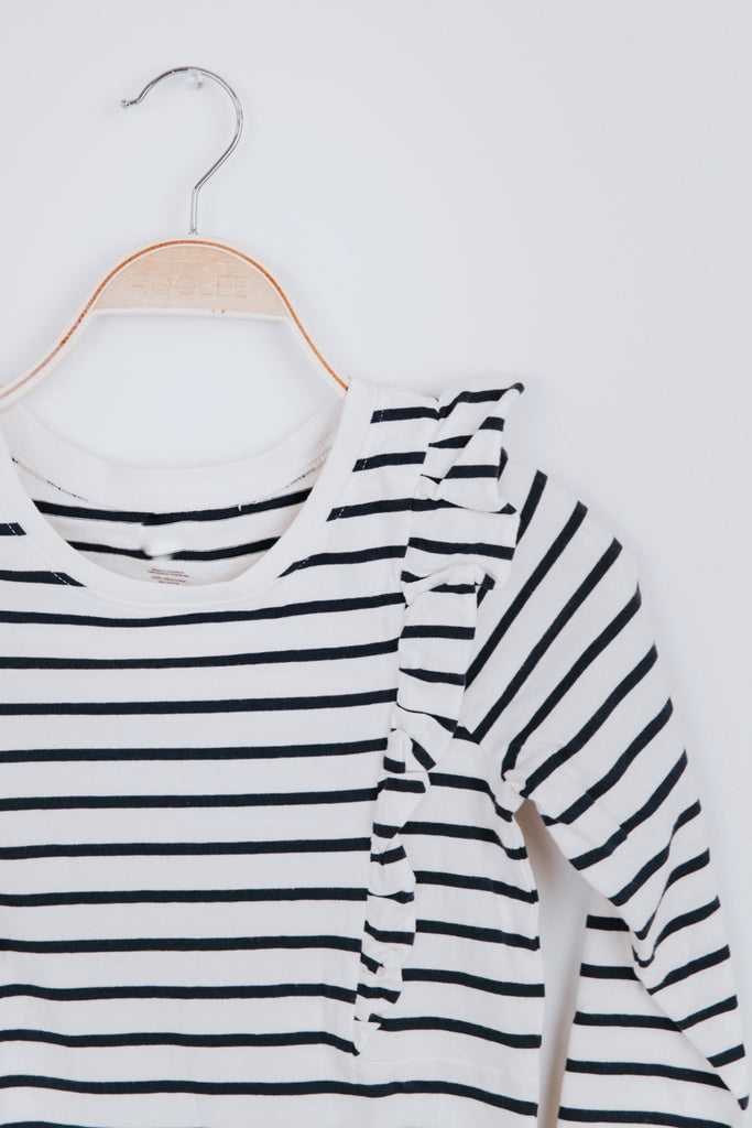 Stripe Dress Outfit Fall Casual | ROOLEE Kids
