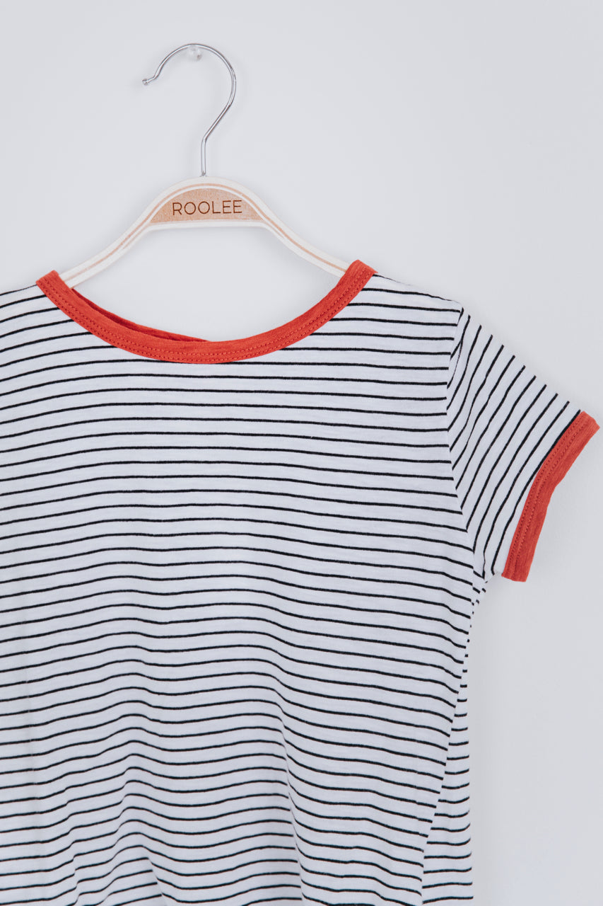 Stripe Crew Neck Tee Shirt For Kids | ROOLEE Kids