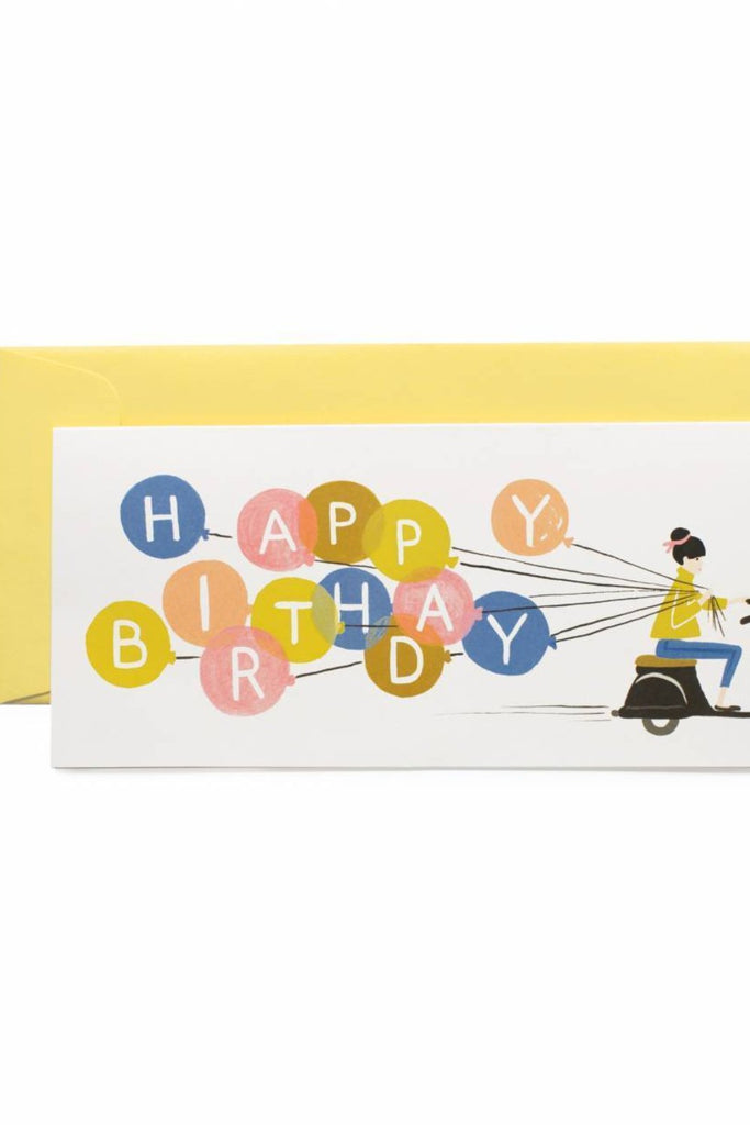 Happy Birthday Scooter Card | ROOLEE