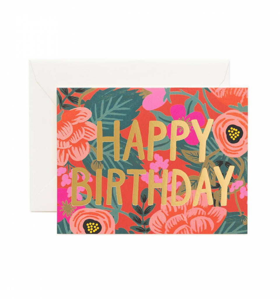 Rifle Paper Co Gold Foil Birthday Card | ROOLEE