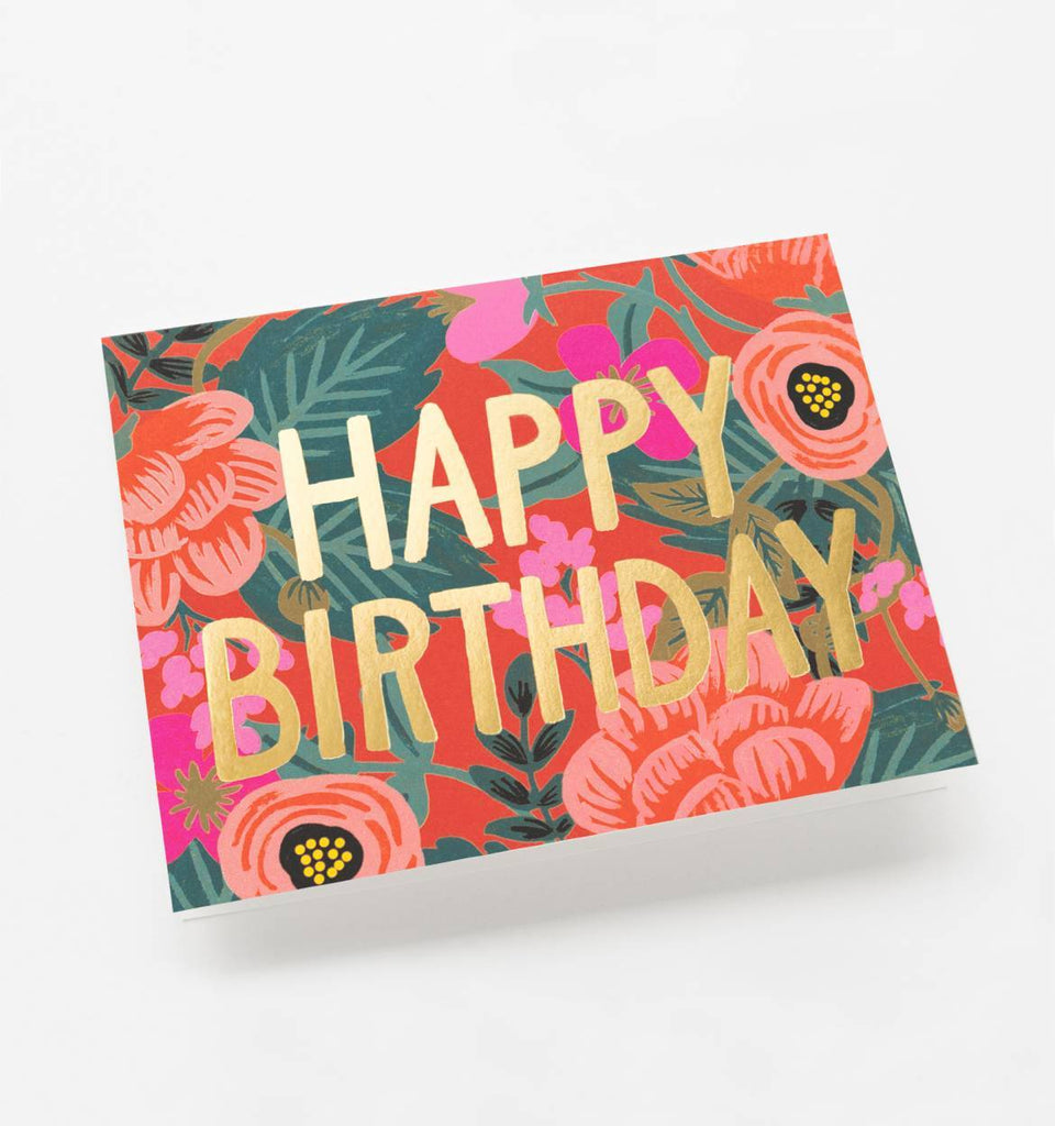 Happy Birthday Painted Floral Card | ROOLEE