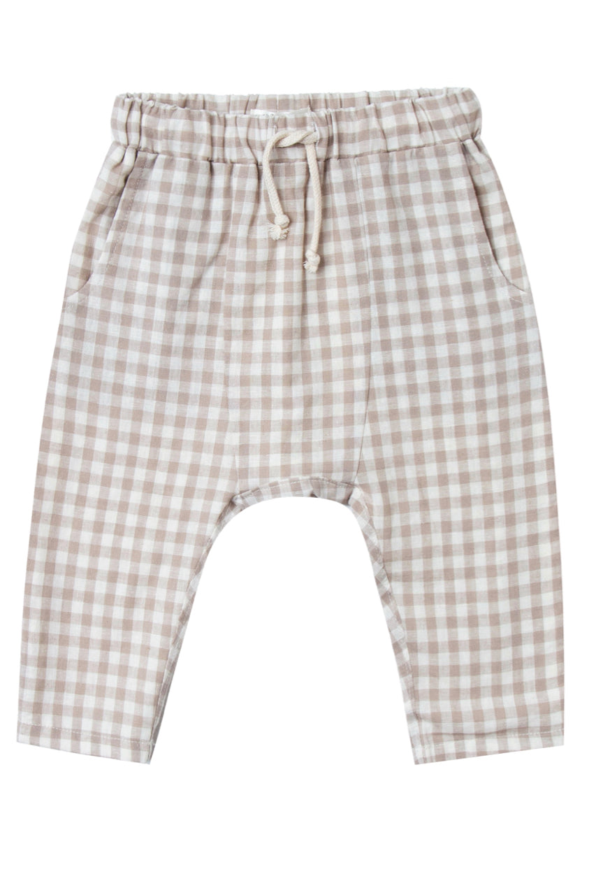 Gingham Kids Trousers | ROOLEE