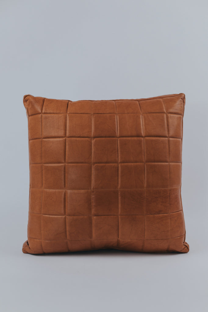 Leather Accent Pillow | ROOLEE