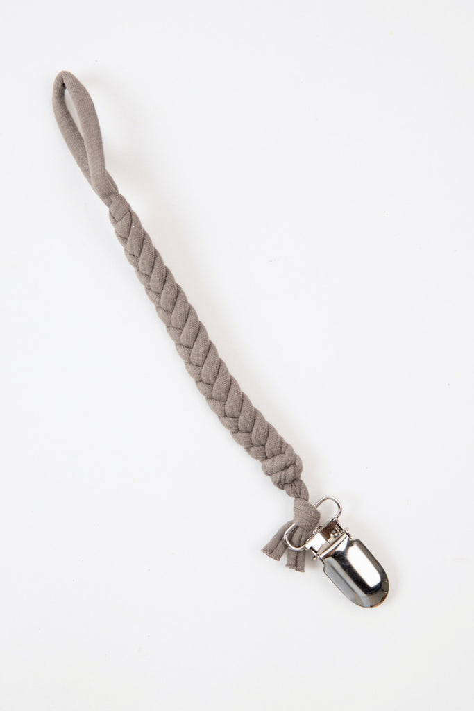 Grey braided clip | ROOLEE