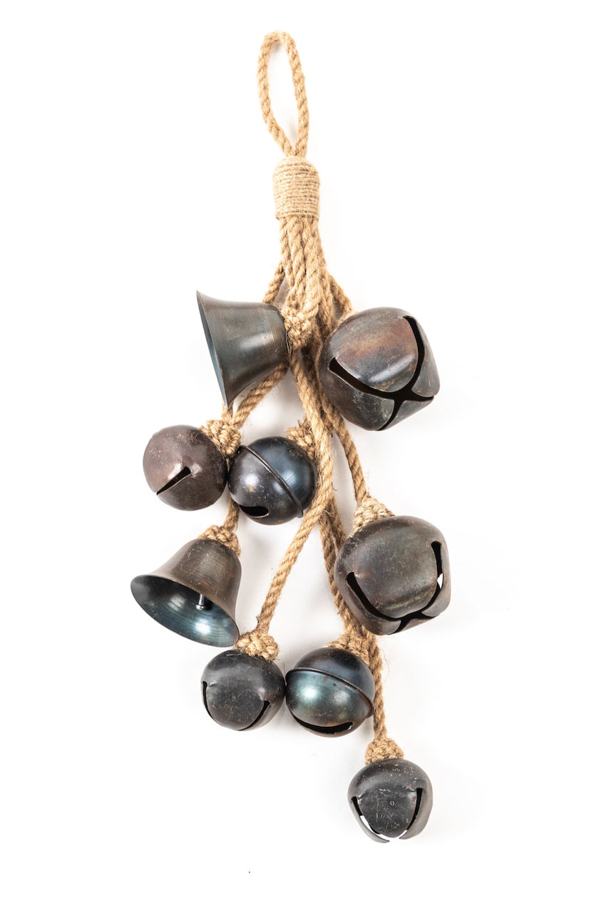 Black rope bells door hanging | ROOLEE