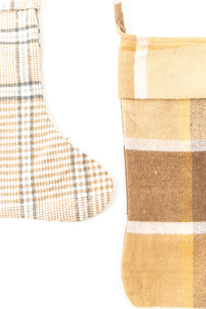 Yellow plaid stockings | ROOLEE