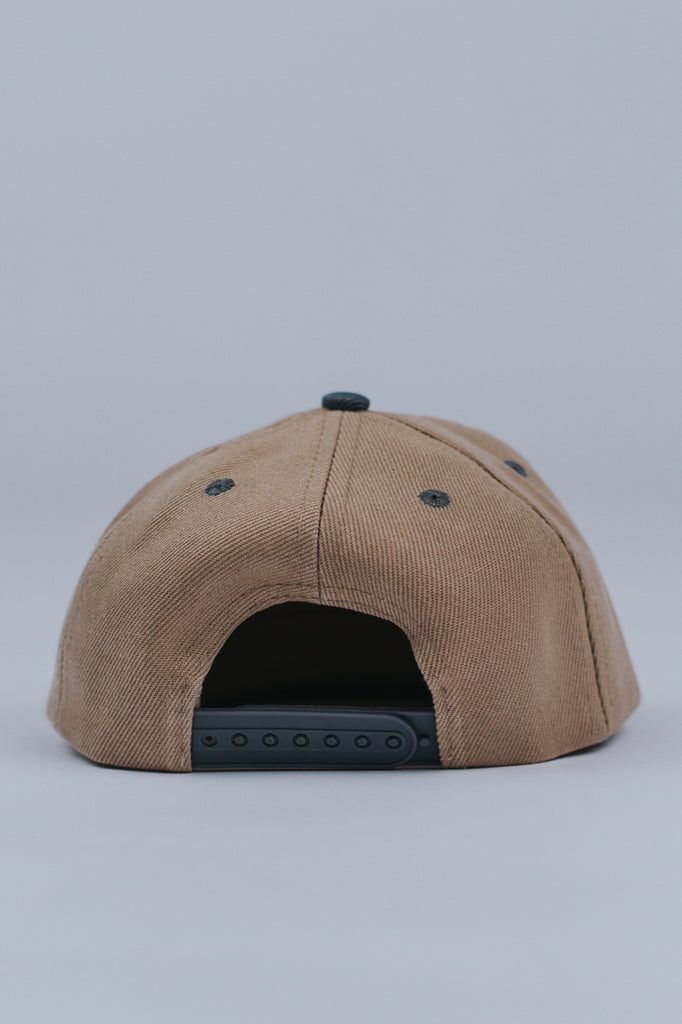 Tan Kids Flat Brim Hat | ROOLEE