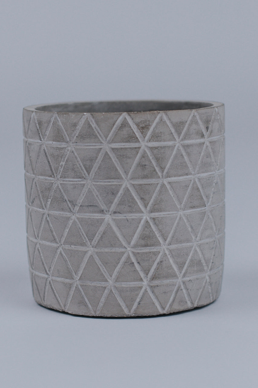 Cement Patterned Planter | ROOLEE