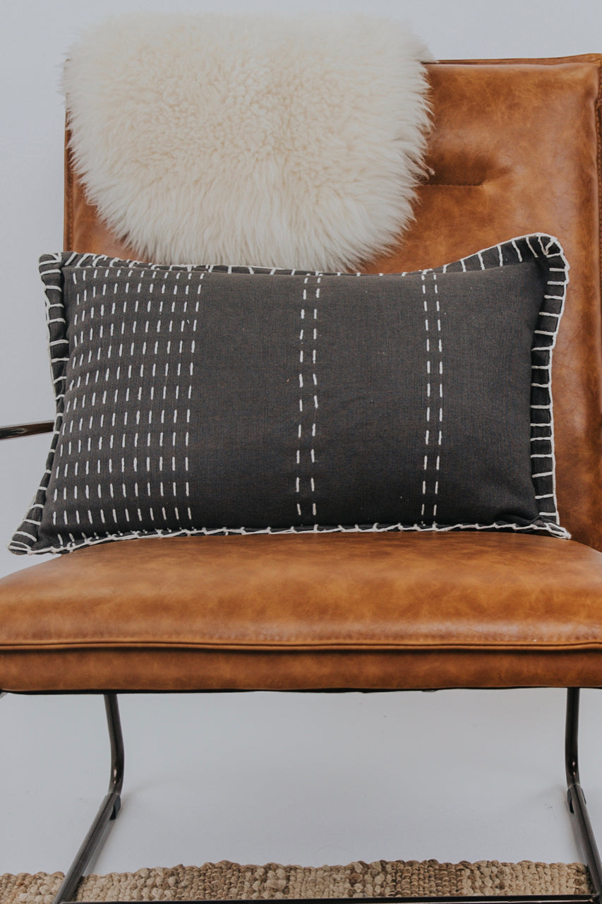 Stitched Statement Pillow | ROOLEE