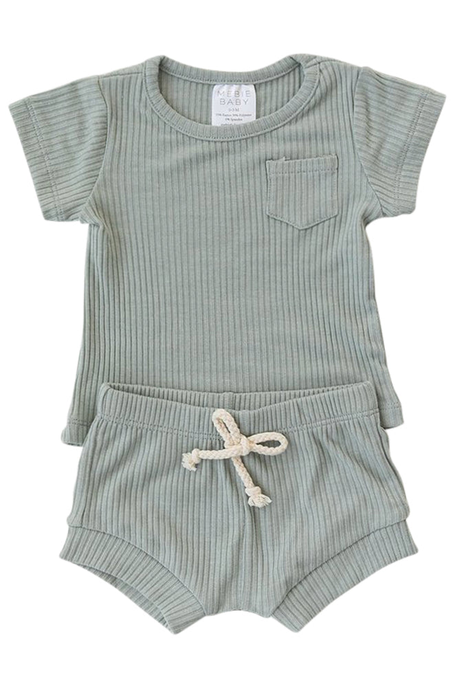 Blue short sleeve baby two piece | ROOLEE