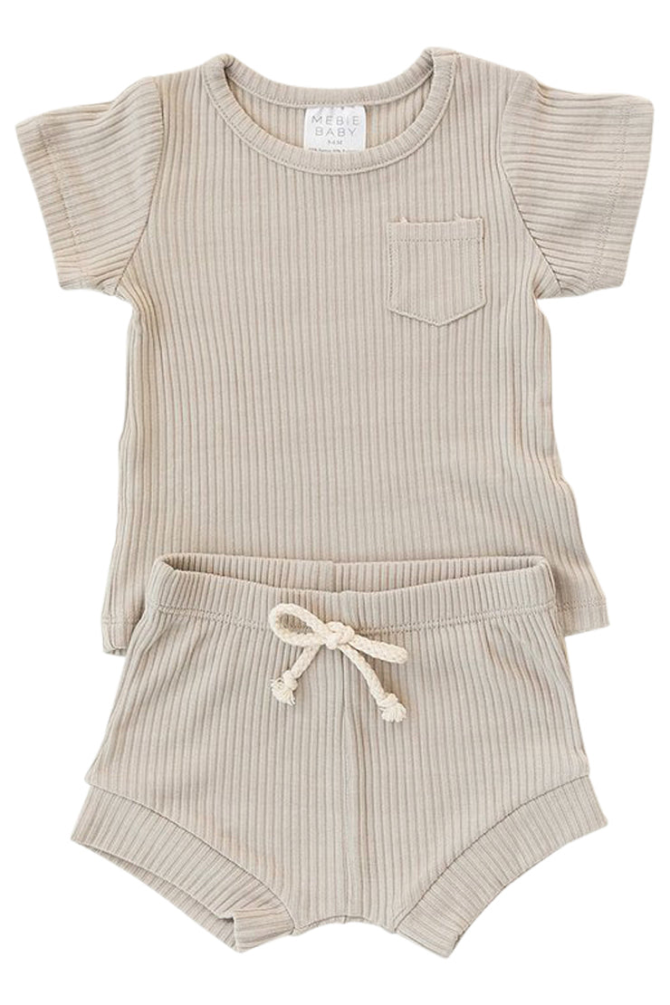 Light grey kids two piece set | ROOLEE