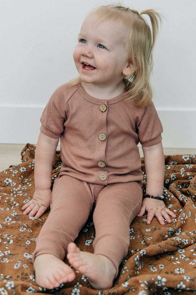 All Love Cotton Button Romper