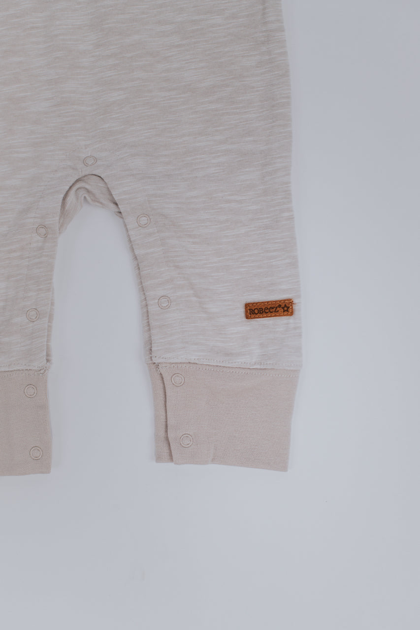 Light Brown Cozy Baby Overalls | ROOLEE