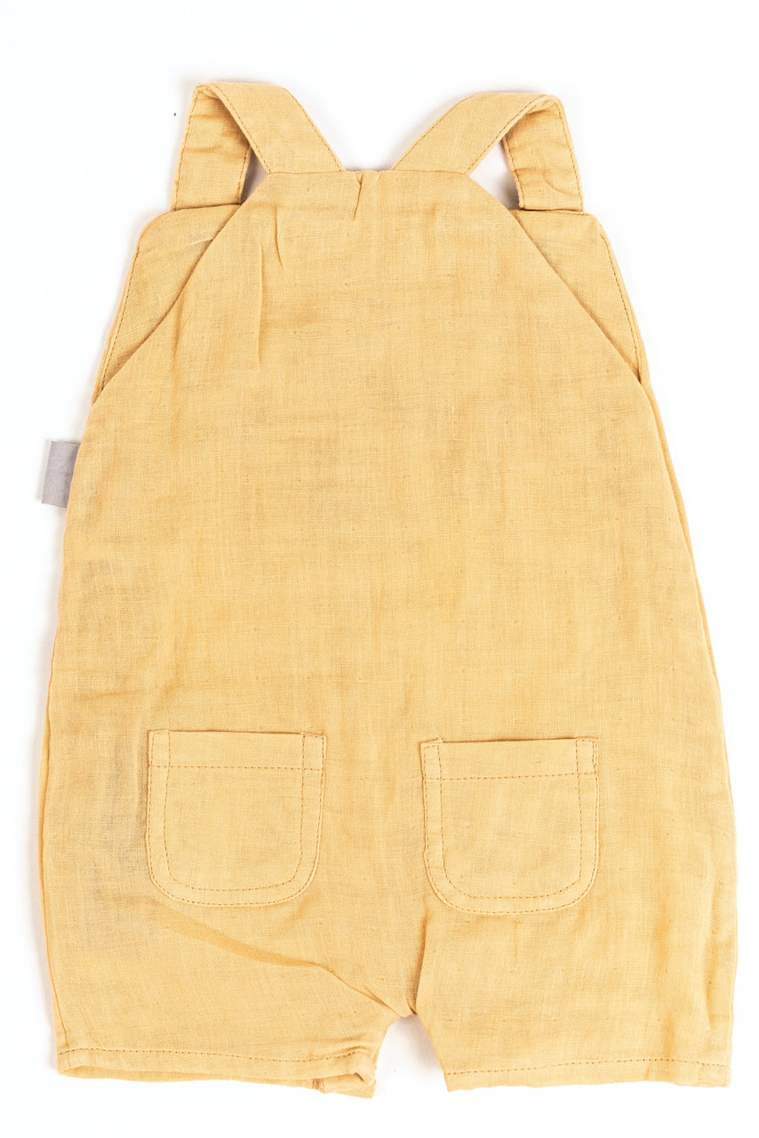light yellow baby summer overalls | ROOLEE