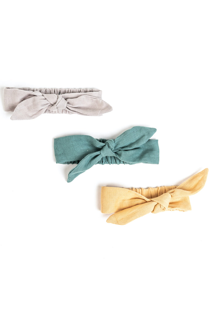 Baby Tied Headbands in Spring/Summer Colors | ROOLEE