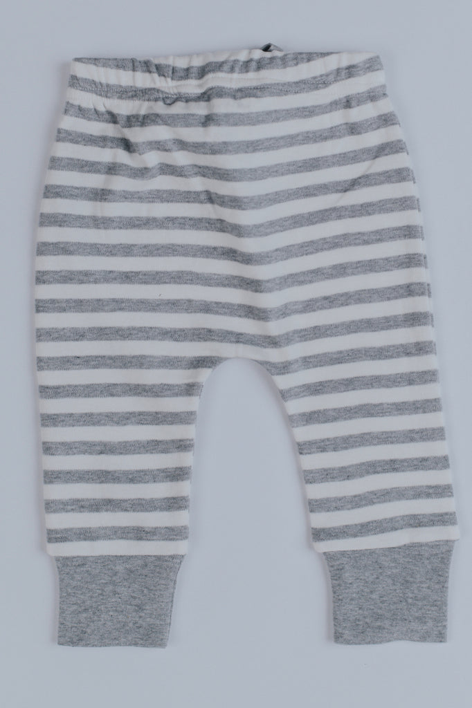 Melange Stripe Knee Patch Joggers