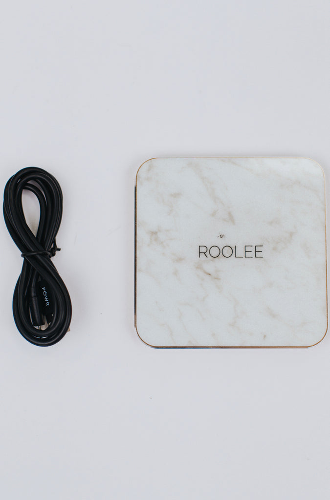 White Marble Charger | ROOLEE
