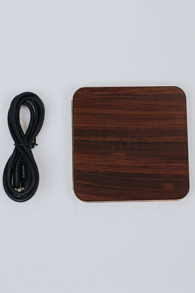 Cherry Wood Wireless Charger | ROOLEE