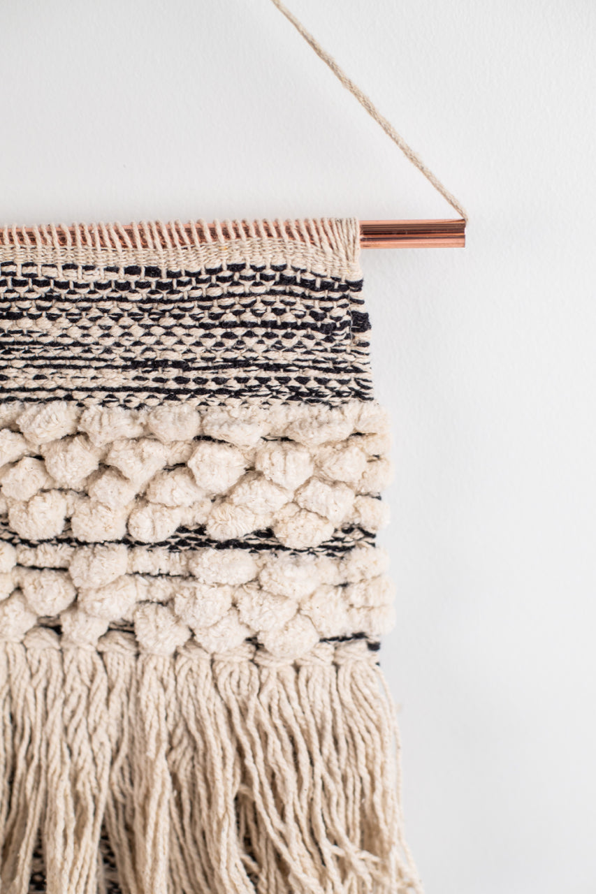 Woven Grey and Cream Wall Hanging | ROOLEE