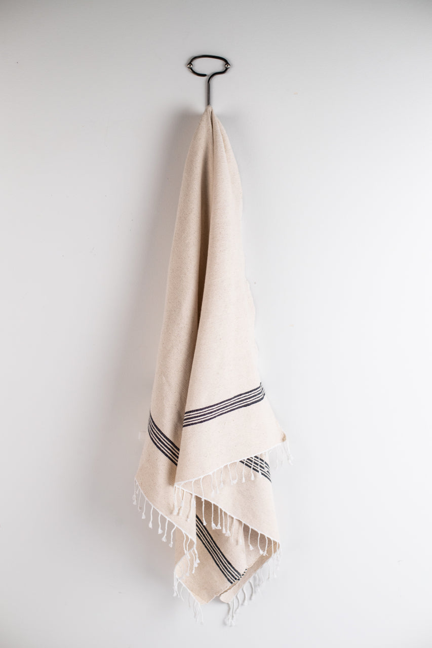 Hand Woven Natural Colored Towel | ROOLEE