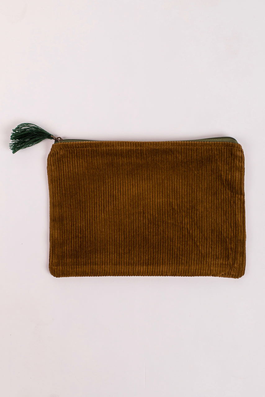 Mustard Fringe Pouch | ROOLEE