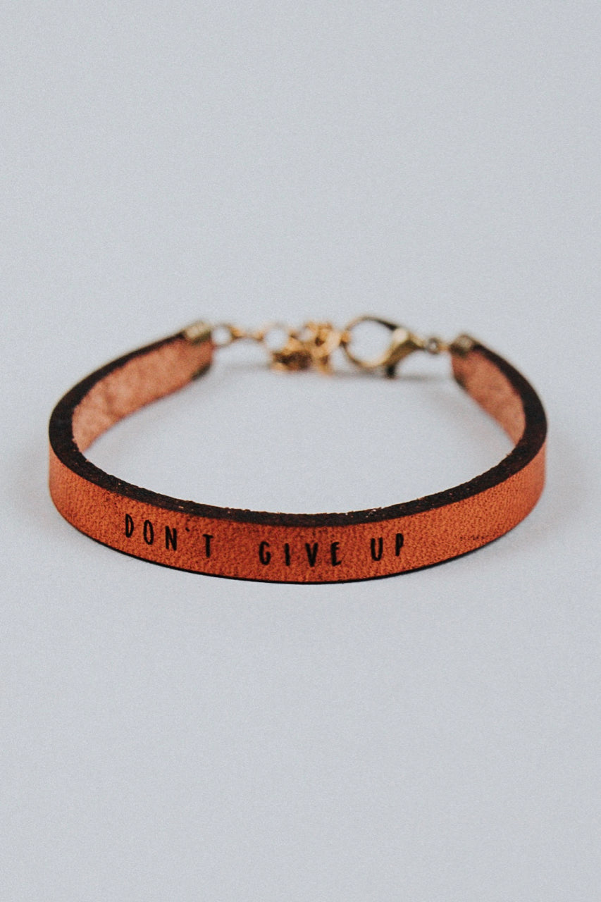 Inspirational Leather Bracelet | ROOLEE