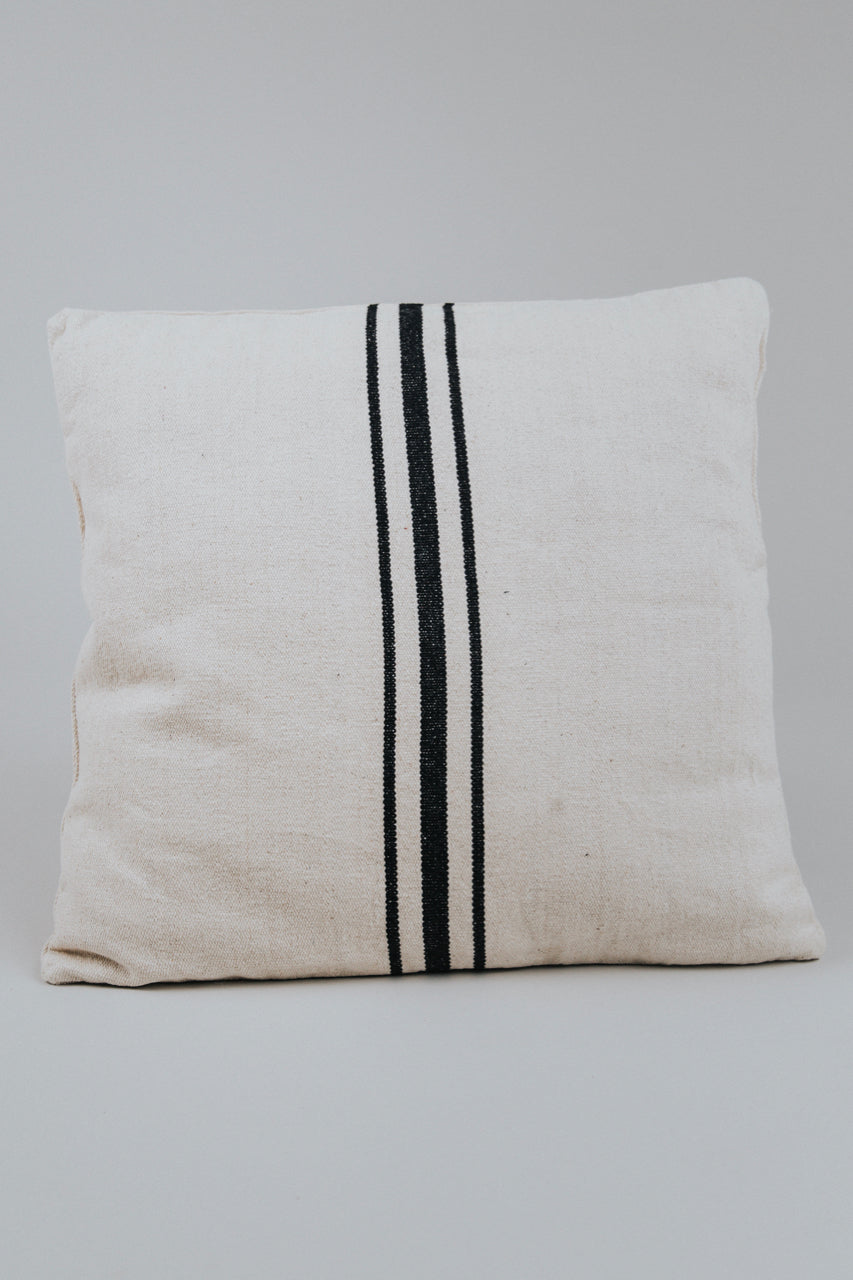 Ivory Stripe Throw Pillow | ROOLEE