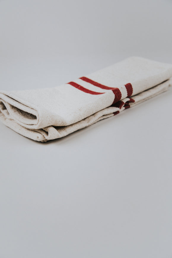 Ivory and Red Stripe Table Runner | ROOLEE