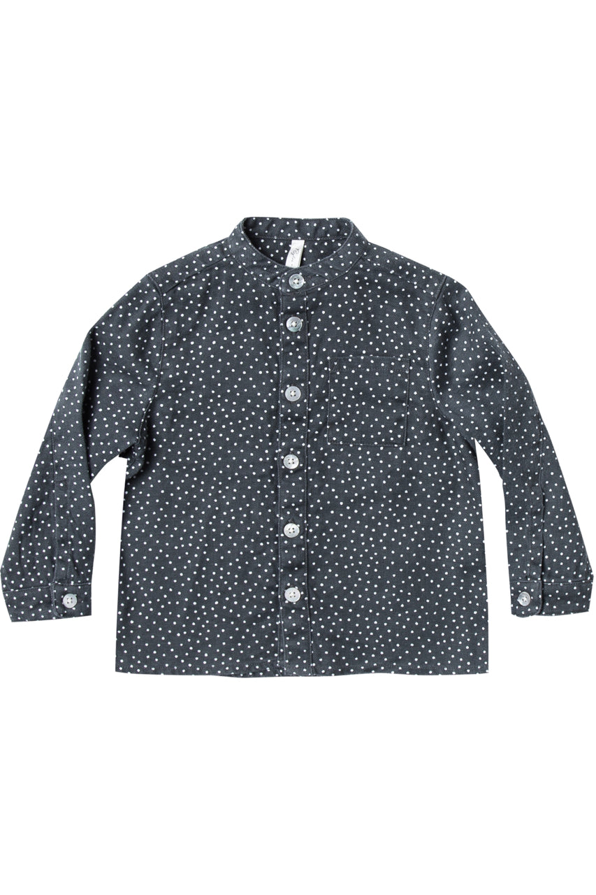 Mock Neck Collar Button Down Top | ROOLEE Kids