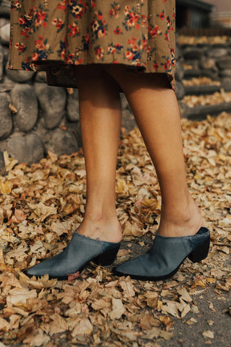 Free People Wild Things Mule in Blue | ROOLEE