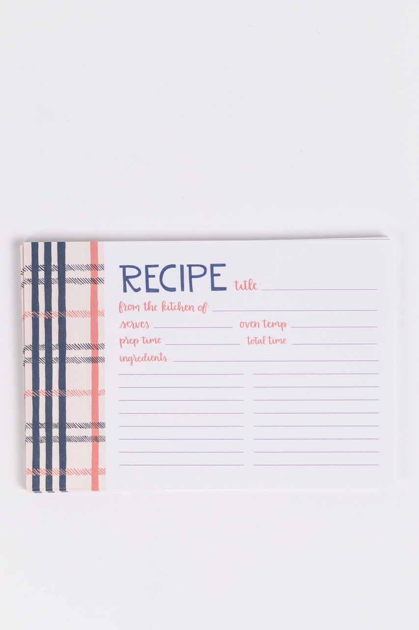 Plaid Recipe Cards | ROOLEE