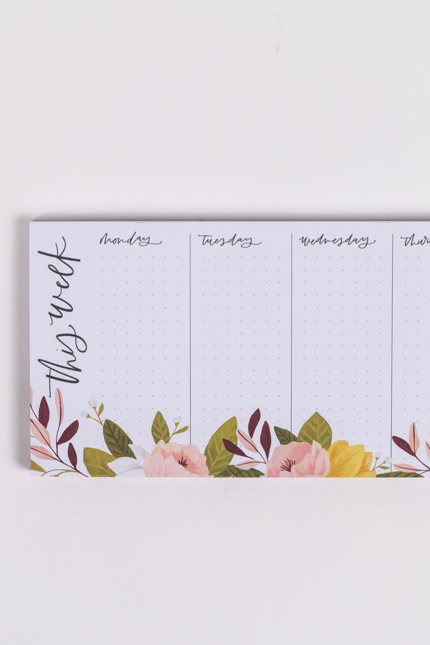 Weekly Schedule Notepad | ROOLEE