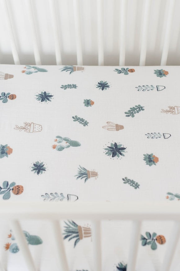 Prickle Pots Crib Sheet