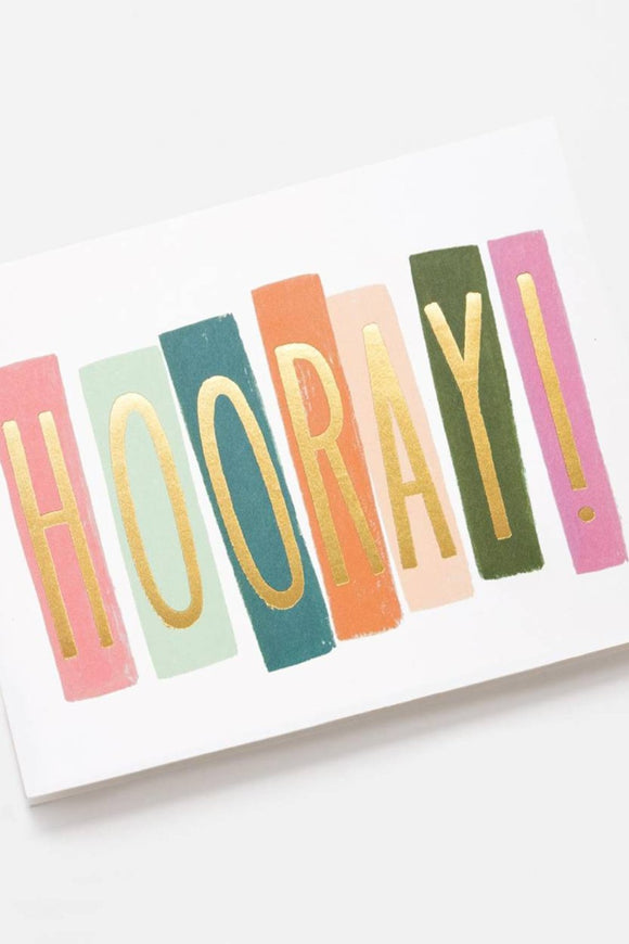 'Hooray!' Greeting Card | ROOLEE