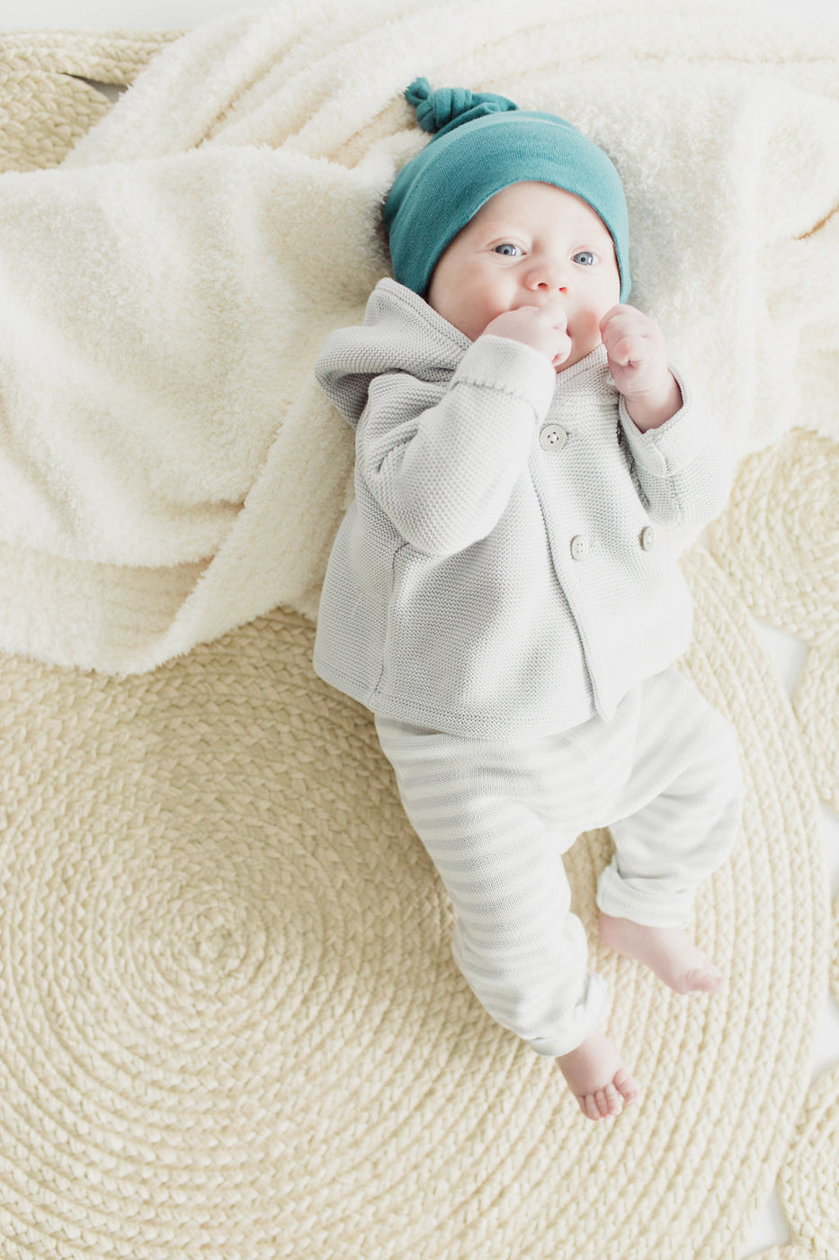 Grey Baby Sweater + Legging Set | ROOLEE Kids