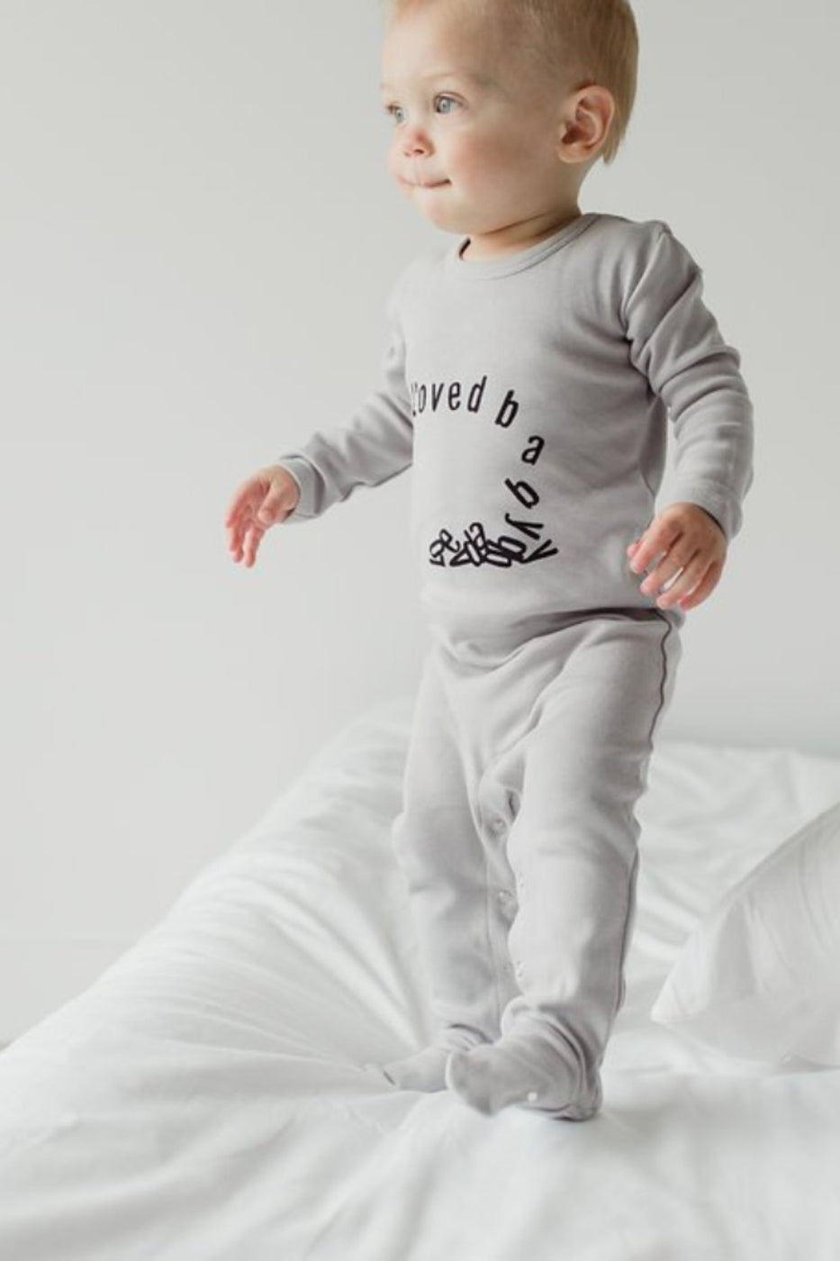 Falling for Love Graphic Footie | ROOLEE Baby