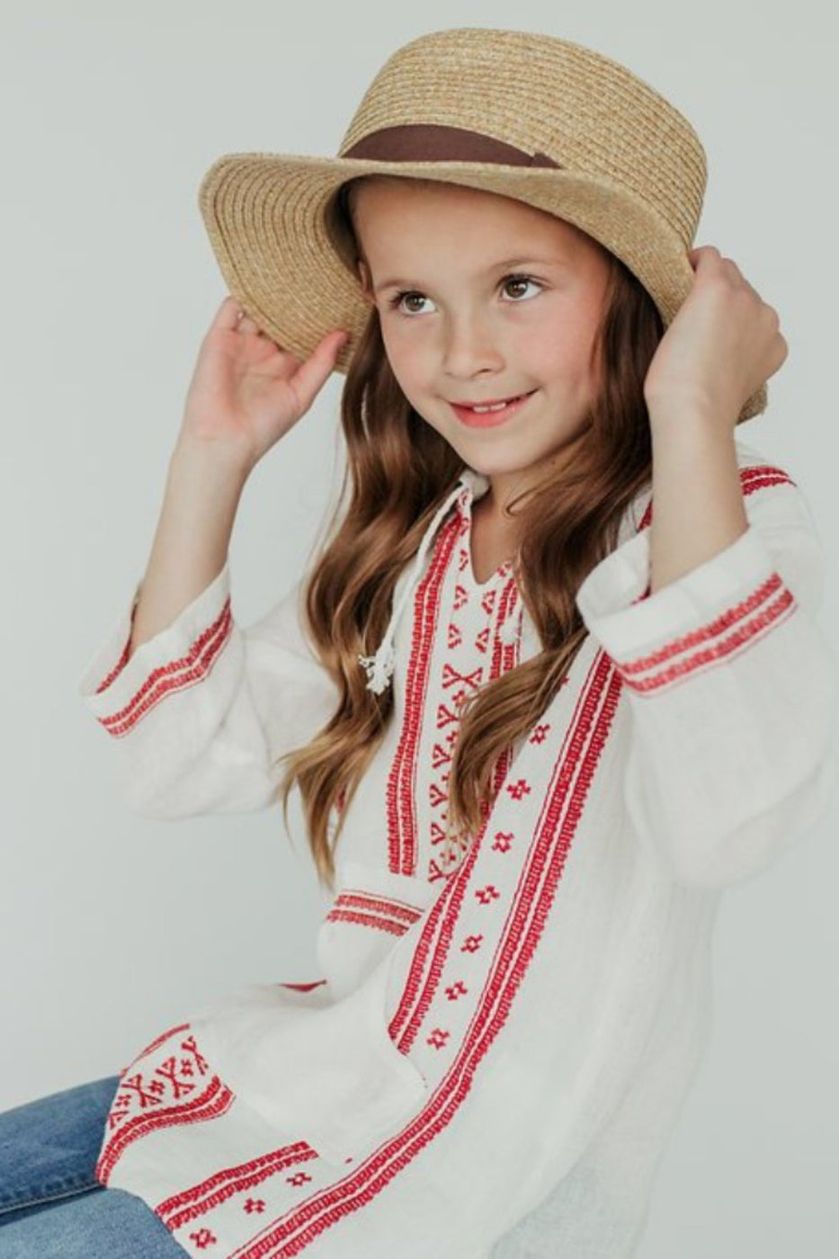96e3f922b600 instagram: @rooleekids June Embroidered Tunic   ROOLEE White ...
