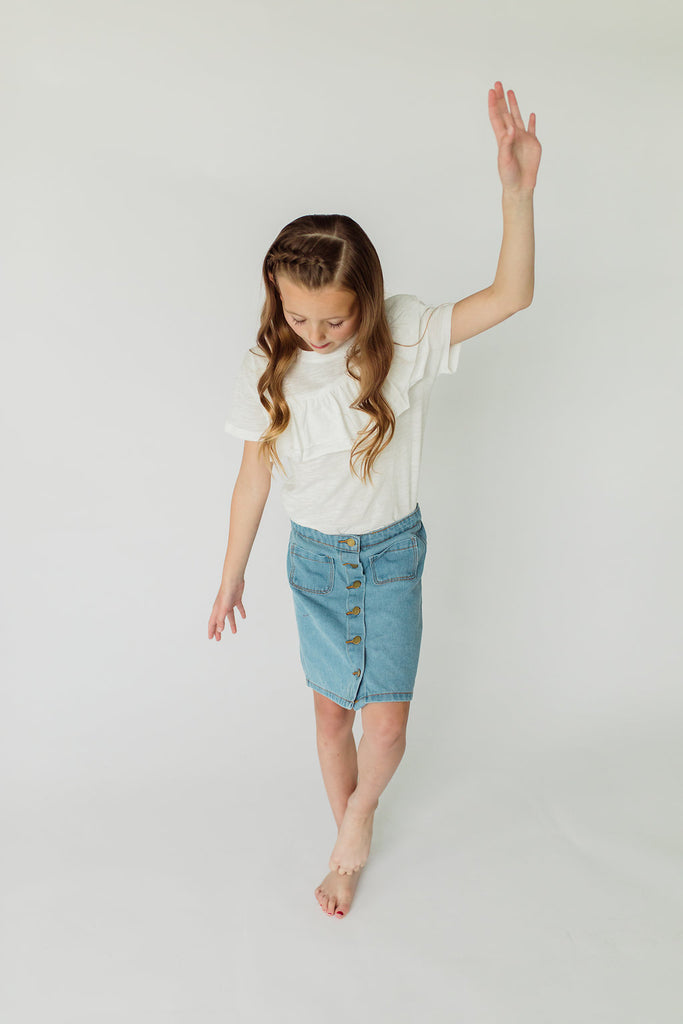The Sandy Denim Skirt | ROOLEE Kids