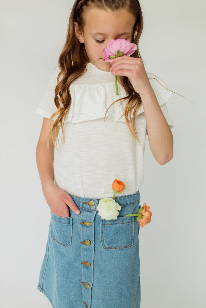 Denim Skirt For Girls | ROOLEE Kids
