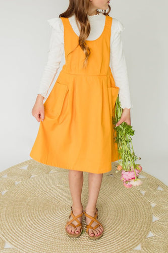 Bright Yellow Overall Dress | ROOLEE Kids