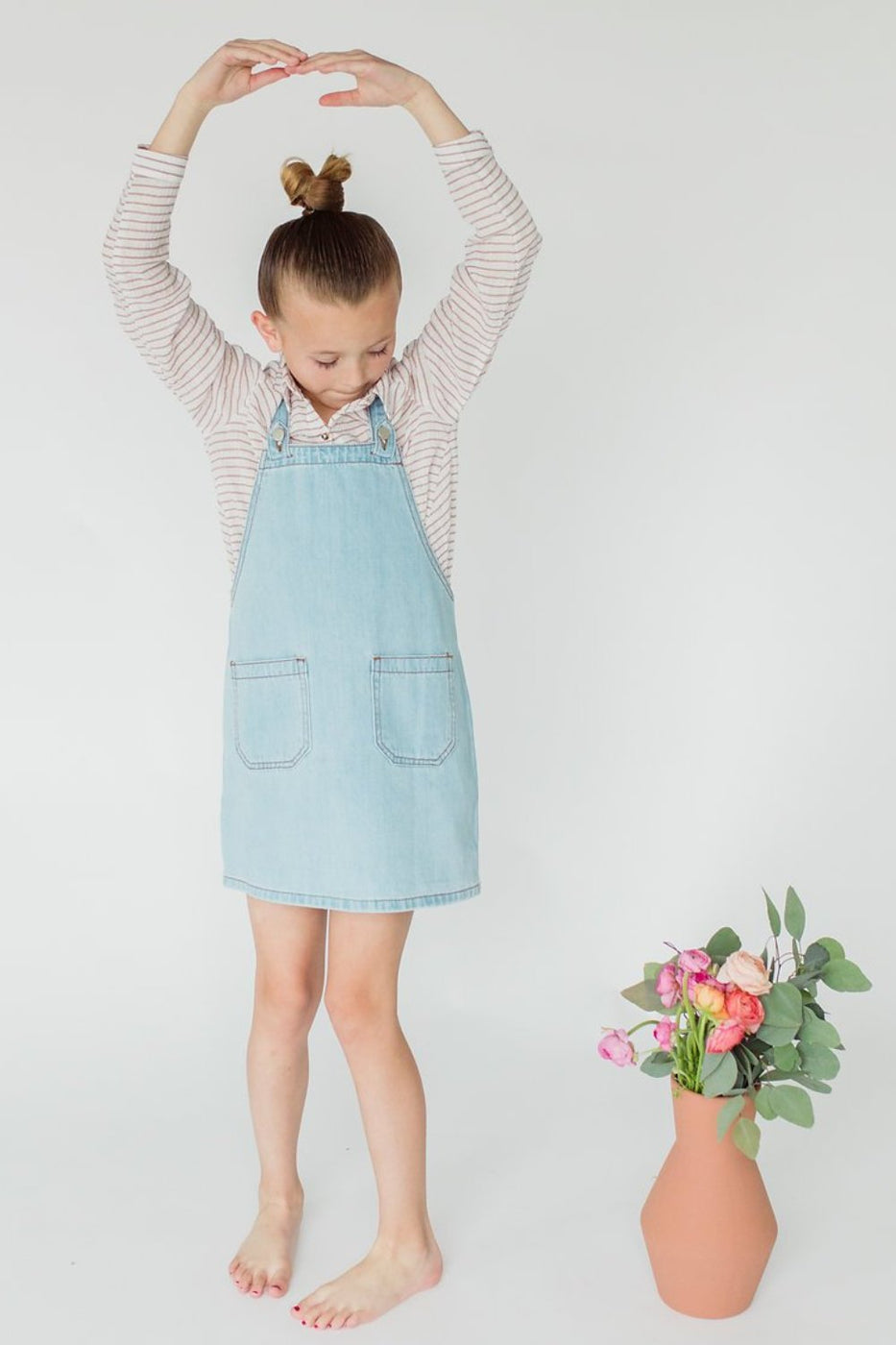 Light Denim Dress For Girls | ROOLEE Kids