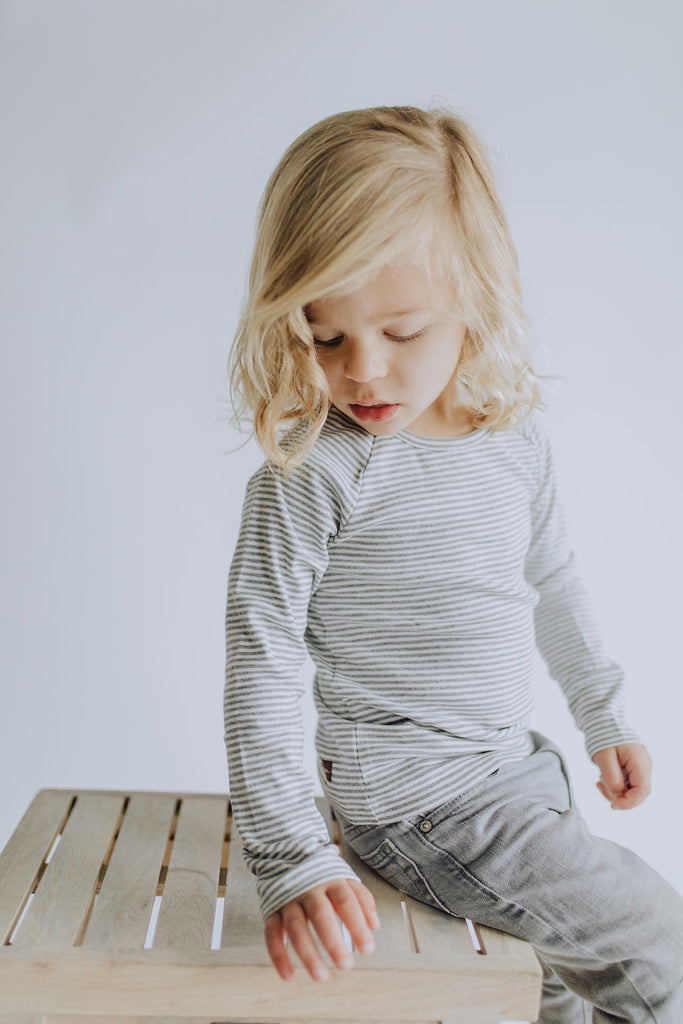 Stripe Long Sleeve Tee For Boys | ROOLEE Kids